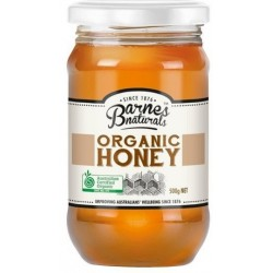 Barnes Cert Organic Honey 500gm