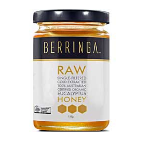 Berringa Raw Organic Eucalyptus Honey 500g