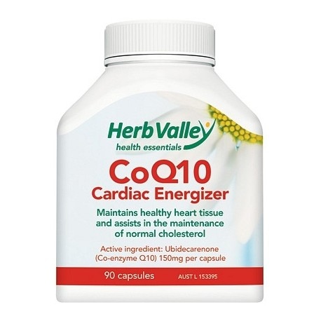Herb Valley Co Enzyme Q10 150mg 90caps