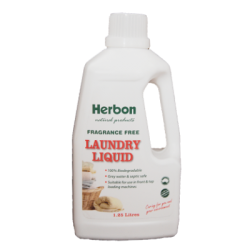 Herbon Laundry Liquid Fragrance Free 1.25lt