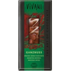 Vivani Milk w/Whole Hazelnuts Organic Choco 100g
