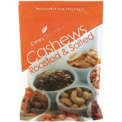 Ceres Organics Cashews Roasted/Salted 100g
