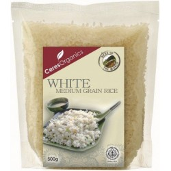 Ceres Organics Rice Medium White 500g