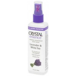 Crystal Deodorant Essence Lavender & White Tea Body Spray 100ml