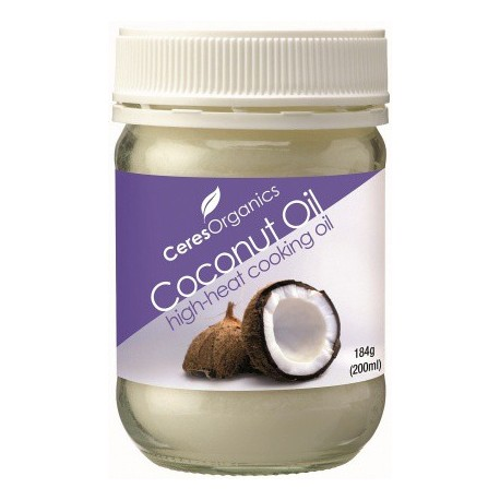 Organic Ceres Organics Brand Coconut Oil High Heat 184g