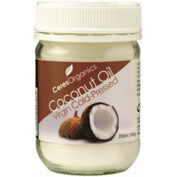 Organic Ceres Organics Brand Coconut Oil Virgin 184g