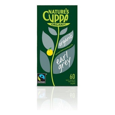Organic Earl Grey 60Teabags 20%Extra by Natures Cuppa