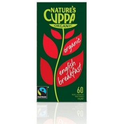 English Breakfast 60 Organic Teabags by Natures Cuppa
