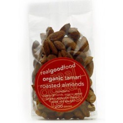 Organic Real Good Foods Org Tamari Roasted Almonds 200g