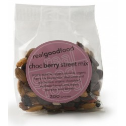 Organic Real Good Foods Organic Choc Berry Street Mix 200g