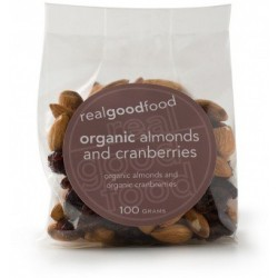 Organic Real Good Foods Organic Almond and Cranberry 100g