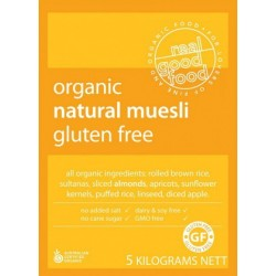 Organic GF Natural Muesli Bulk 5kg by Real Good Foods