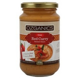 Organic Thai Red Curry Sauce 375g Gluten Free Ozganics