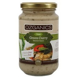 Organic Thai Green Curry Gluten Free Sauce 375gms by Ozganic