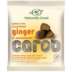 Naturally Good Carob And Ginger Gluten Free 125gm. RRP $3.95 Our Price $3.25