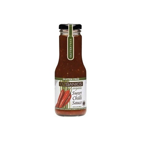 Ozganics Organic Sweet Chilli Sauce G/F 250ml RRP $5.25 MFH $4.25 SAVE $1.00