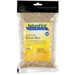 Rice Brown Long Grain 500 gms - Natures First RRP $5.15 MFH $3.95 SAVE $1.20
