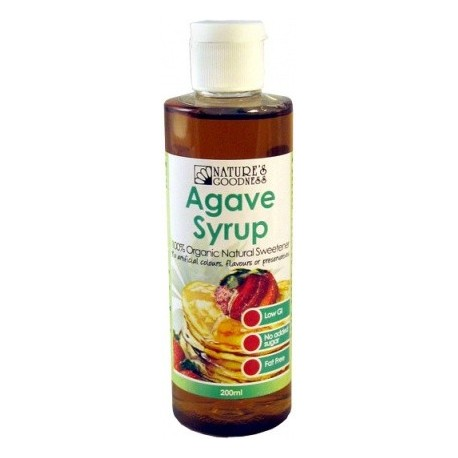 Natures Goodness Agave Syrup 200ml RRP $9.85 MFH $8.00 Save $1.85