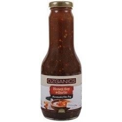 Ozganics Org Honey,Soy&Garlic Marinade G/F 350ml MFH $4.60 RRP $5.70 SAVE $1.10