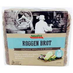 Natures First Organic Long Life Rye With Flaxseed Bread 500g RRP $5.30 SAVE $1.00