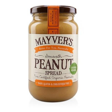Mayvers Organic Smooth Peanut Butter 375gms