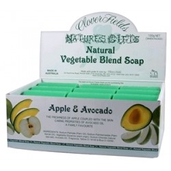 Clover Fields Nature's Gifts Apple & Avocado Soap 100g Bar