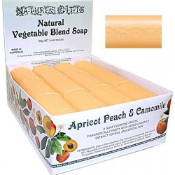 CLOVER FIELDS NATURE'S GIFTS APRICOT PEACH & CAMOMILE SOAP 100g BAR