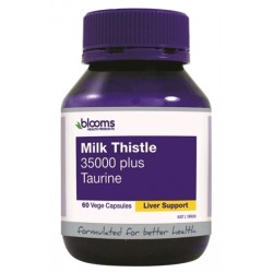 Blooms Milk Thistle 35000 Plus Taurine 60caps
