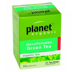 Planet Organic Green Tea Decaffeinated 25 tea bags.