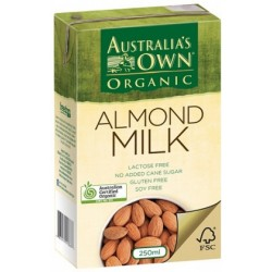 Australia's Own Organic Almond Milk 3x 250ml Pac. Each.